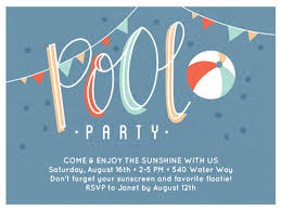 pool party invitations gorgeous pool party invitations for the summer