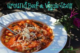 ground beef u0026 veggie stew