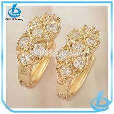 beautiful gold earrings new arrival beautiful gold clean zircon design gold earrings tops