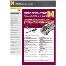 haynes manuals online mercedes benz a class a140 a160 a170