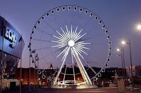 liverpool u0027s new big wheel illuminates the night sky near the echo