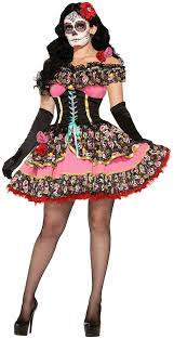 day of the dead costumes forum novelties women s day of dead senorita costume