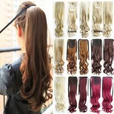 a layered hair wrap long layered tie up pony tail clip on hair piece extensions wrap