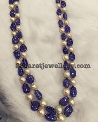 sapphire bead necklace images Blue sapphire beads set pinterest south sea pearls bead jpg