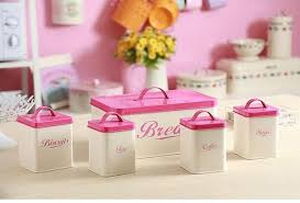 pink kitchen canisters kitchen canisters the chic pad