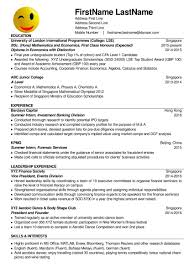 Interests For Resume Resume Example Singapore Resume For Your Job Application