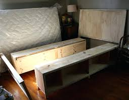 Build Bed Frame With Storage Build A Bed Frame With Storage Feei
