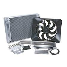 flex a lite electric fan kit a lite mustang radiator and fan kit 79 93 5 0 5 8