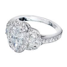 platinum halo engagement rings suchy oval half moon halo platinum engagement