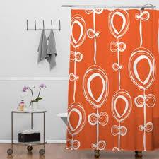 Shower Curtain Contemporary Modern Orange Shower Curtains Allmodern