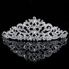 tiara collection allens bridal shining alloy with zircons and rhinestones