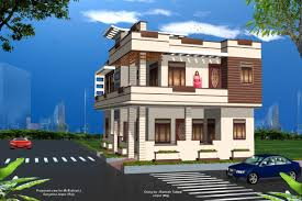 two storey house design white wall paint exterior decoration
