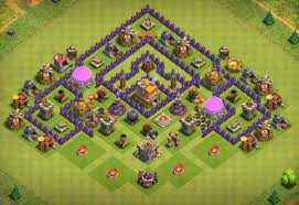 Coc Maps Top 8 Best Th7 Trophy Bases 2017 3 Air Defenses Cocbases