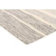 Cotton Wool Rugs Majorca Grey Striped Cotton U0026 Wool Rug U2013 Miss Amara Hk