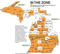 Michigan County Maps by Michigan Deer Hunting Forecast For 2014 Game U0026 Fish