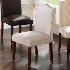 gray linen nailhead parsons chair kirklands