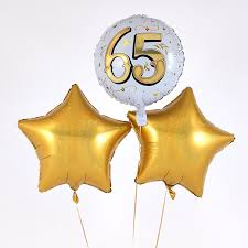 free balloon delivery 65th birthday gold balloon bouquet inflated free delivery