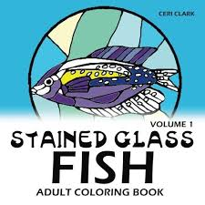 stained glass fish coloring book complete series includes