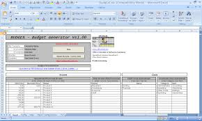 Microsoft Office Excel Template Officehelp Macro 00048 Budgex Budget Generator For
