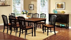 furniture of america pallena turned leg 9 piece dining table set