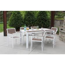 patio furniture 7 dining set 7 all weather outdoor patio furniture garden deck dining set