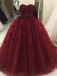 maroon quinceanera dresses gown sweetheart burgundy tulle quinceanera dress with flowers