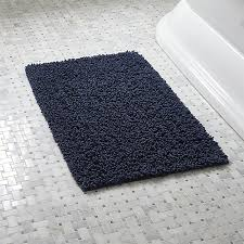 Bathroom Rugs And Accessories Loop Midnight Bath Rug In Bath Rugs Reviews Crate And Barrel
