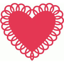 heart doily silhouette design store view design 38677 heart doily