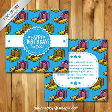 happy birthday card template free vectors ui download