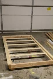 Build Platform Bed Frame by Cheap Easy Low Waste Platform Bed Plans Platform Beds