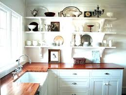 open shelving in kitchen ideas rustic open shelving exles high res kitchen cabinet ideas