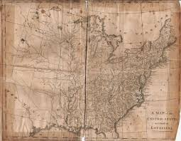 A Map Of United States by 1800 U0027s Pennsylvania Maps