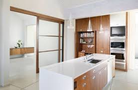 Sliding Kitchen Doors Interior Designs Ideas Awesome Kitchen With White Kitchen Island And