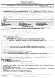 Human Resource Resumes Resume Format For Mechanical Engineering Freshers It Free Download