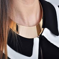 gold metal choker necklace images 2018 wholesale new fashion gold metal choker necklace women gold jpg
