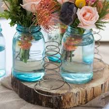 jar flower centerpieces jar wedding flower arrangements