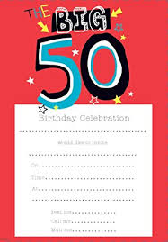 birthday invitations male 50th birthday pack of 20 sheets