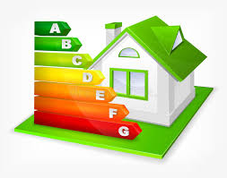 house energy efficiency energy efficiency rating with house stock vector illustration of