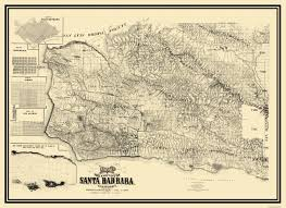 Lakeview Oregon Map by Old County Map Santa Barbara California Landowner 1889