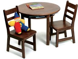 lipper 524wn child 39 s round table and 2 chair set walnut style canada kids lipper childrens rectangular table and chair set