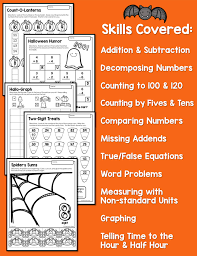 halloween math activities primary theme park