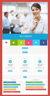 Free Online Resume Website by 50 Best Html Resume Cv Vcard Templates 2017 Freshdesignweb