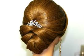 marriage bridal hairstyle wedding hairstyle for medium long hair bridal updo youtube