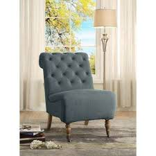 Home Decor Chairs Solid Blue Side Chair Accent Chairs Chairs The Home Depot