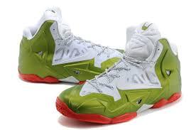 sale nike zoom lebron xi 11 mens shoes white green thanksgiving