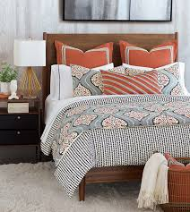 blue and orange bedding niche luxury bedding by eastern accents bowie collection