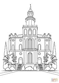 st george utah temple coloring page free printable coloring pages
