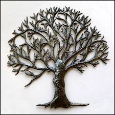 metal tree of wall haitian steel drum wall decor
