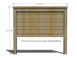 What S The Dimensions Of A King Size Bed How To Build A Rustic Wood Headboard How Tos Diy