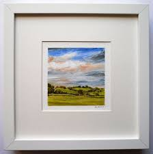 artfinder the skies stoop down in their desire ii by rorie nairn oil on heavyweight paper professionally framed behind glass in a white deep edge box